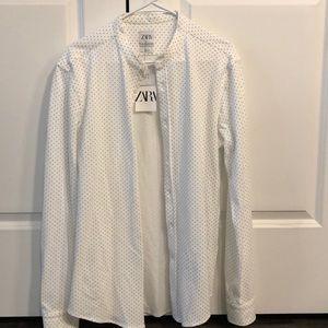 NWT Zara Man Long Sleeve Button Down
